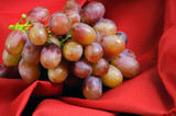 red grapes on red poster