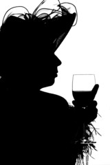 silouette of a lady