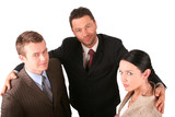 group of 3 business people - promotion poster