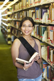 college student in a library poster