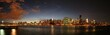 manhattan skyline after sunset