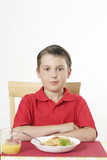 child at table poster