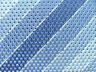 blue material with diagonal stripes