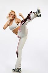 karate woman.