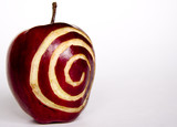 apple with spiral poster