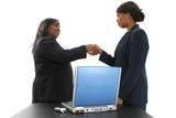 stock photography: two beautiful african american poster