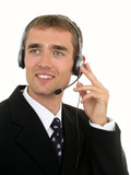 call center operator poster
