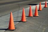 orange cones poster