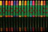 feutres multicolores sur fond noir poster