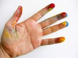 main en couleurs poster