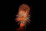 fireworks in orange poster