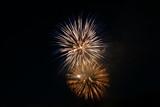 fireworks in night sky poster