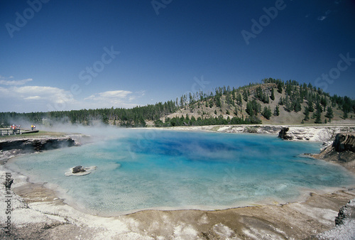 poster of geothermal pool, yellowstone national park