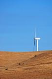 modern windmill in california poster