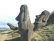 three leaning moai
