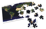 world puzzle poster