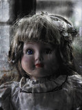 antique doll poster
