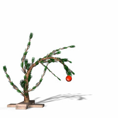 charlie brown style christmas tree