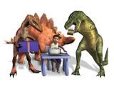 dinosaur birthday poster