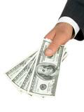 businessman's hand offering money poster