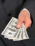 businessman offering money poster