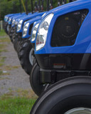 many blue tractors poster