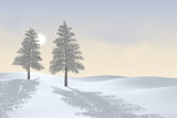 two winter trees poster