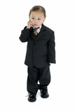 stock photography: japanese american girl in suit poster
