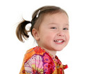 stock photography: japanese american toddler girl poster