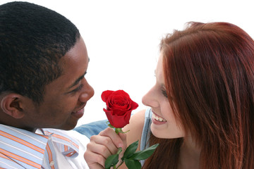 stock photography:  atractive interracial couple