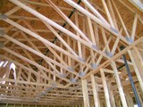 construction - roof trusses poster