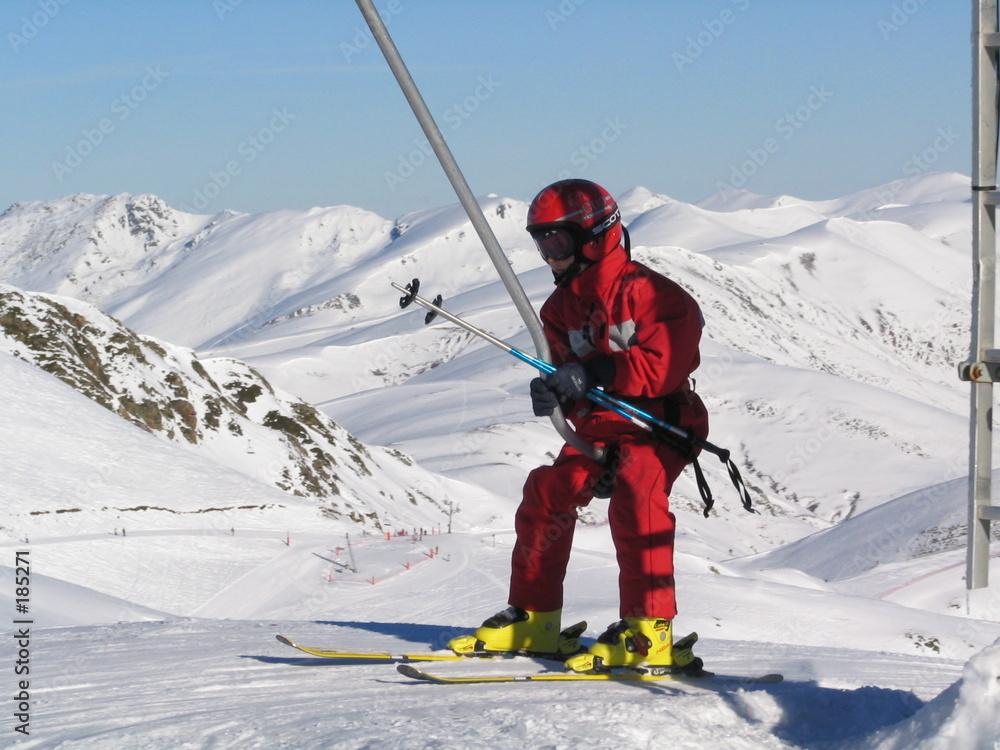 narciarz narciarz poślizg - powiększenie