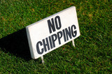 no chipping poster
