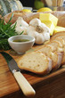 garlic bread, knife & rosemary oil 2
