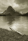 two medicine lake, glacier national park poster