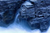 waterfall in moonlight poster