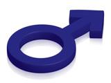 male symbol poster