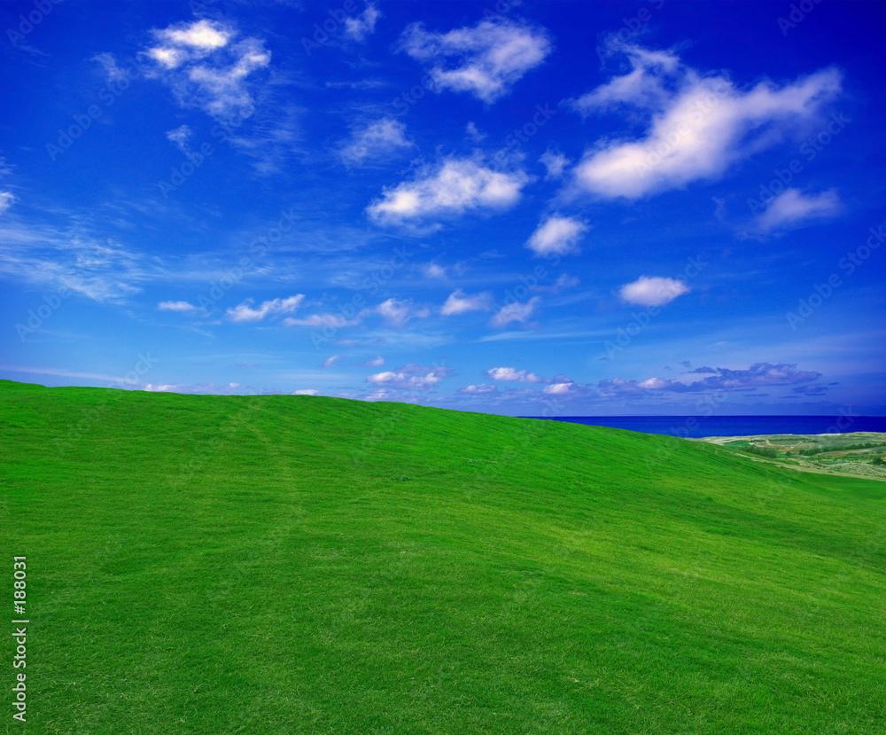 golf zielony pejzaż - powiększenie