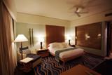 five stars hotel bedroom poster