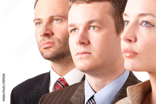 poster of business team  - portrait - close up