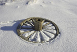 wheel in snow poster