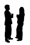 business couple silhouette poster