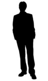 business man standing silhouette poster