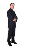 confident business man standing poster