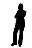 business woman standing silhouette illustration poster