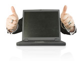 business laptop of success poster