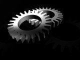 gears in silver poster