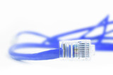 blue network cable poster