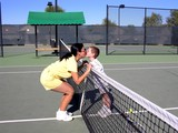 tennis kiss poster