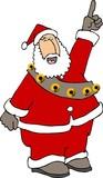 pointing santa poster
